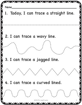 My July Preschool Writing Journal