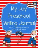 My July Preschool Writing Journal