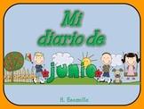 My June Journal - Mi diario de junio - in Spanish