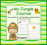 Jungle Animals - A Writing Journal