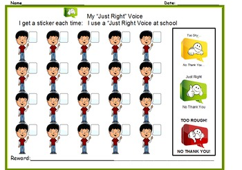 """My """"Just Right Voice"""" for School"""