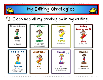 My K-2 Editing Strategies Writing Team (A Common Core Aligned Unit)