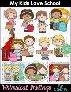 My Kids Love School Clipart Collection