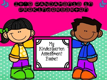 My Kindergarten Assessment Data Packet