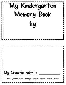 My Kindergarten Book - A Kindergarten Memory Book