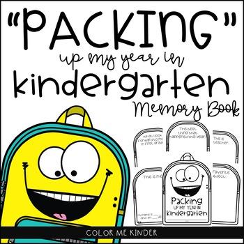"""Packing"" Up My Year in Kindergarten Memory Book"