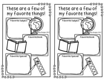 My Kindergarten Scrapbook - End of the Year Memories