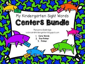 My Kindergarten Sight Word Centers BUNDLE