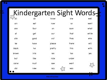 My Kindergarten Sight Words Workbook