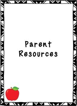 My Kindergarten Take Home Folder 2017-2018
