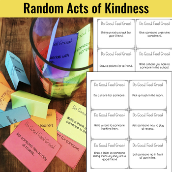Kindness Journal: Social Emotional Learning or Character Education Activity