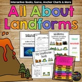 All About Landforms Book- Real Pictures & Clip Art Version, Quiz, Game, Posters