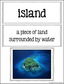 All About Landforms {Interactive Books, Posters, Game, & Worksheets}