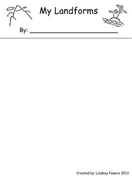 My Landforms FlipBook