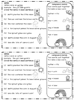 My Language Booklets {6 Weeks of Daily Language Skills}