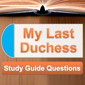 my last duchess study guide