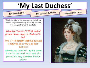 My Last Duchess - Power and Conflict