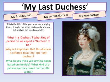 my last duchess structure analysis