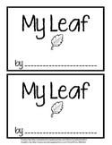 My Leaf booklet - All about my leaf - Science