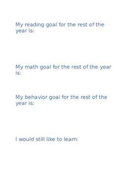 My Learning Data- Student Self Evaluation