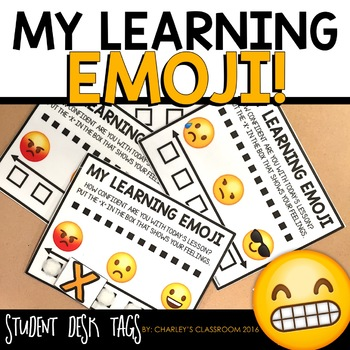 My Learning Emoji!  Students Rate Their Learning
