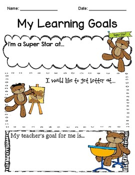 My Learning Goals - For Primary Learners