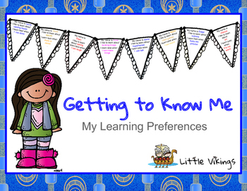 Getting to Know Me - My Learning Preferences