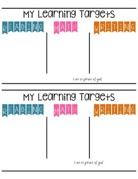 My Learning Targets