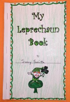 My Leprechaun Book Writing Project