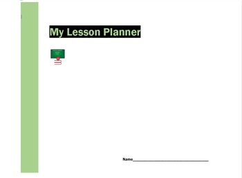 My Lesson Planner - Template