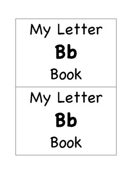 My Letter Bb Book