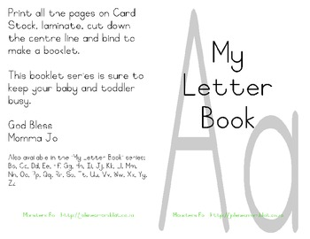 My Letter Book Series:  Letter A