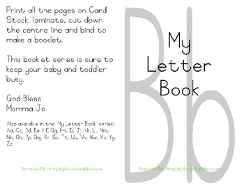 My Letter Book Series:  Letter B