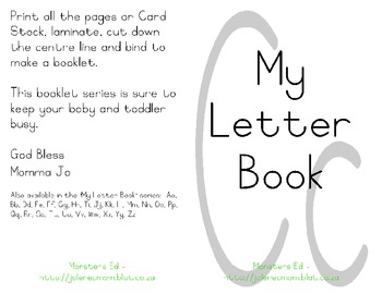 My Letter Book Series:  Letter C