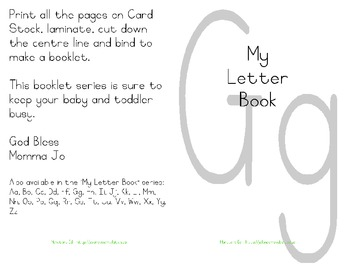 My Letter Book Series:  Letter G