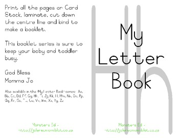 My Letter Book Series:  Letter H