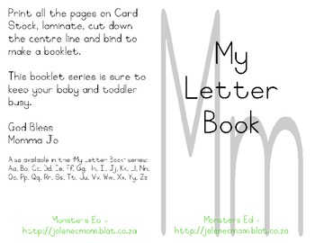 My Letter Book Series:  Letter M