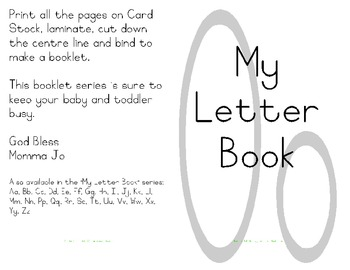 My Letter Book Series:  Letter O