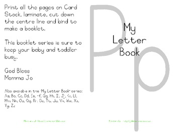 My Letter Book Series:  Letter P