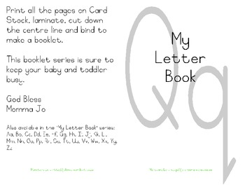 My Letter Book Series:  Letter Q