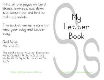 My Letter Book Series:  Letter S