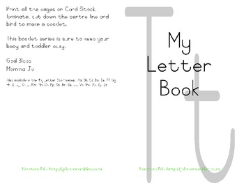 My Letter Book Series:  Letter T