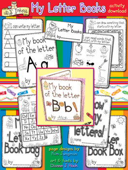 My Letter Books Learning Activity Download - Distance Learning