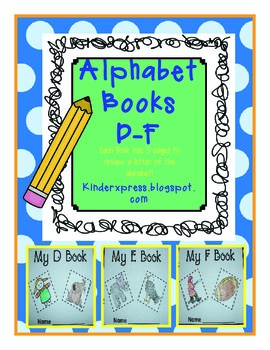 My Letter Books and Alphabet Fun D-F