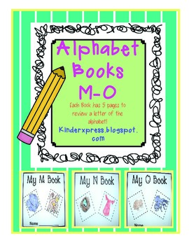 My Letter Books and Alphabet Fun M-O