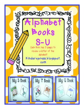 My Letter Books and Alphabet Fun S-U