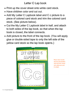 My Letter C Lapbook