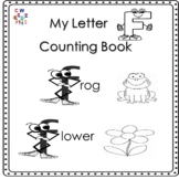 Letter 'F' Alphabet Counting Book