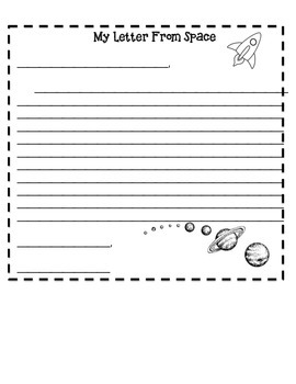 My Letter From Space Template