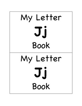 My Letter Jj Book